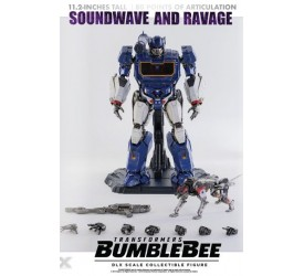 Transformers Bumblebee DLX Action Figure 2-Pack 1/6 Soundwave and Ravage 28 cm