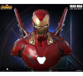 Marvel Avengers Infinity War Iron Man MK50 Life-size Bust (EX Battle Damage) 80 CM