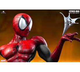 Comic Spider-Man 1/1 Bust by Queen Studios (Red and Black)