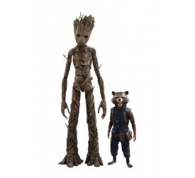 Avengers Infinity War Movie Masterpiece Action Figure 2-Pack 1/6 Groot and Rocket Set