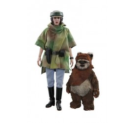Star Wars Episode VI Movie Masterpiece Action Figure 2-Pack 1/6 Princess Leia & Wicket 15-27 cm
