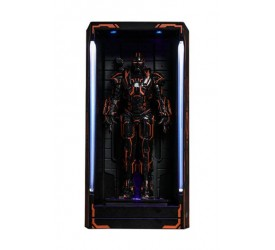 Iron Man 2 MMS Compact Series Diorama Neon Tech War Machine Hall of Armor 12 cm