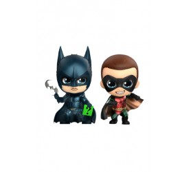 Batman Forever Cosbaby Mini Figure 2-Pack Batman and Robin 11 cm
