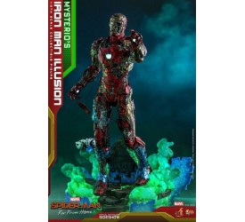 Spider-Man Far From Home MMS PVC Action Figure 1/6 Mysterio's Iron Man Illusion 32 cm