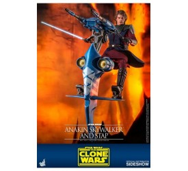 Star Wars The Clone Wars Action Figure 1/6 Anakin Skywalker and STAP 31 cm