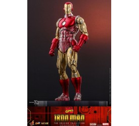 Marvel Comics The Origins Collection Comics Masterpiece Series Iron Man Suit Armor 1/6 Scale Figure 33 cm