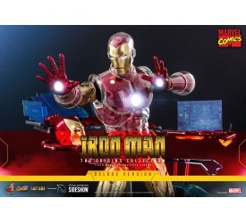 Marvel Comics The Origins Collection Iron Man Suit Armor 1/6 Scale Figure Deluxe Version 33 cm