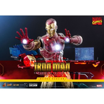 Marvel Comics The Origins Collection Iron Man Suit Armor 1/6 Scale Figure Deluxe Version 33 cm