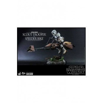 Star Wars Episode VI Action Figure 1/6 Scout Trooper and Speeder Bike 30 cm