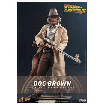 Back To The Future III Movie Masterpiece Action Figure 1/6 Doc Brown 32 cm