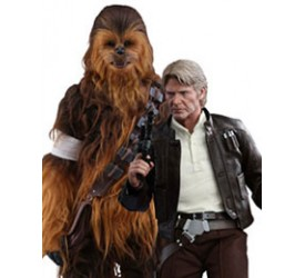 Star Wars Episode VII Movie Masterpiece Action Figure 2-Pack 1/6 Han Solo and Chewbacca