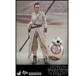 Star Wars Episode VII Movie Masterpiece Action Figure 2-Pack 1/6 Rey and BB-8