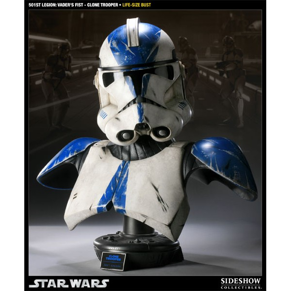 Star Wars Bust 1 1 501st Legion Vader 180 S Fist Clone