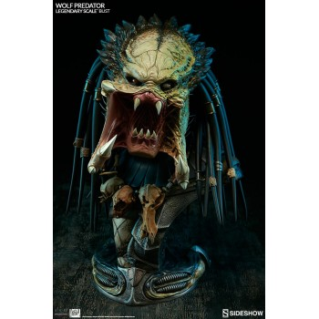 Aliens vs Predator Requiem Legendary Scale Bust 1/2 Wolf Predator Limited International Version 45 cm
