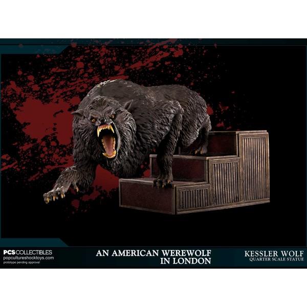 An American Werewolf In London Kessler Wolf 1 4 Scale Statue 55 Cm