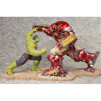 Avengers Age of Ultron ARTFX+ PVC Statue 1/10 Hulk fight with Hulkbuster Iron Man set