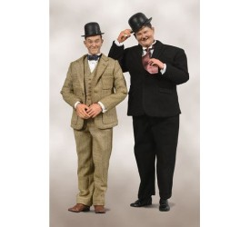 Laurel and Hardy Action Figure 2-Pack 1/6 Classic Suits Limited Edition 30-33 cm
