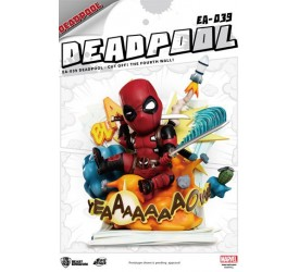 Marvel Egg Attack Statue Deadpool Cut Off! The Fourth Wall! 28 cm