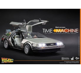 Back to the Future Movie Masterpiece Action Figure 1/6 DeLorean Time Machine 72 cm