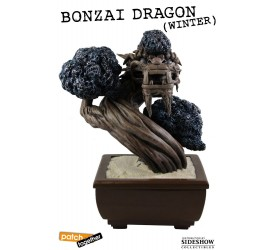Bonsai Dragon Statue Winter 25 cm