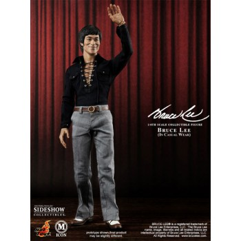 Bruce Lee Movie Icon Action Figure 1/6 70s Casual Wear Version 30 cm