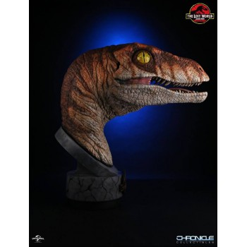 Jurassic Park The Lost World Male Raptor 1/1 Scale Bust