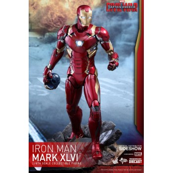 Captain America Civil War Movie Masterpiece Diecast Action Figure 1/6 Iron Man Mark XLVI 32 cm