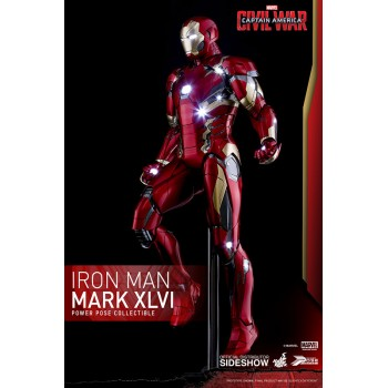 Captain America Civil War Power Pose Series Action Figure 1/6 Iron Man Mark XLVI 31 cm
