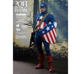 Captain America Movie Masterpiece Action Figure 1/6 Star Spangled Man 2013 Toy Fairs Exclusive 30 cm