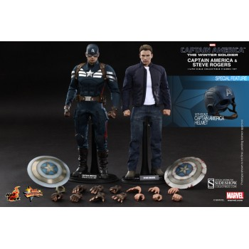 Captain America The Winter Soldier Captain America and Steve Rogers 1/6 scale figure set 30cm