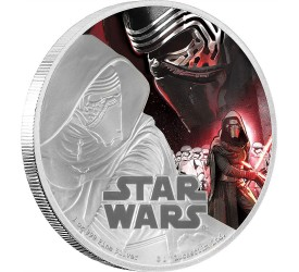 Star Wars Episode VII 1 Oz Silver Coin Kylo Ren