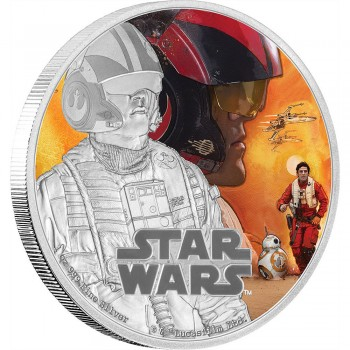 Star Wars Episode VII 1 Oz Silver Coin Poe Dameron