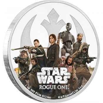 Star Wars Rogue One 1 Oz Silver Coin Rebel Alliance