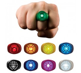 DC Comics Blackest Night Replica Set Power Ring Spectrum