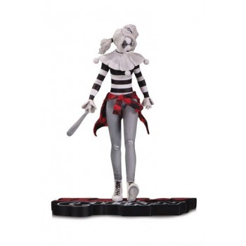 DC Comics Red White and Black Statue Harley Quinn by Steve Pugh 18 cm
