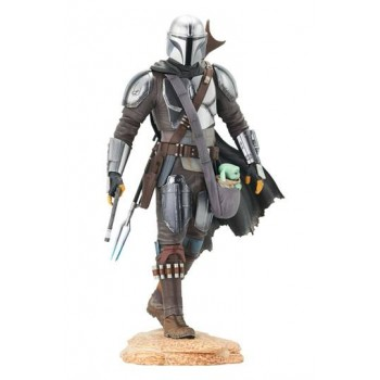 Star Wars The Mandalorian Premier Collection 1/7 The Mandalorian with The Child 25 cm