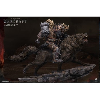 Warcraft The Beginning Statue 1/9 Blackhand Riding Wolf (Standard Version) 40 cm