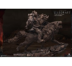 Warcraft The Beginning Statue 1/9 Blackhand Riding Wolf (IMITATION BRONZE) 40 cm