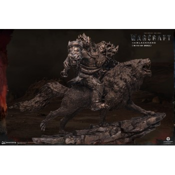 Warcraft The Beginning Statue 1/9 Blackhand Riding Wolf (IMITATION BRONZE) 40 cm