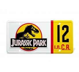 Jurassic Park Dennis Nedry License Plate Replica