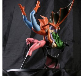 Darkstalkers Diorama Morgan and Lilith The Embrace SDCC 2011 Exclusive 30 cm