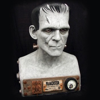 Frankenstein Head 1/1 VFX Maquette Monochrome Edition
