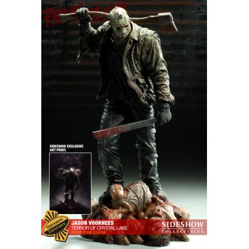 Friday the 13th Statue Jason Vorhees Terror of Crystal Lake Sideshow Exclusive