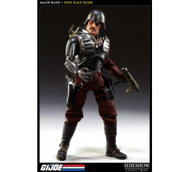 G.I. Joe Action Figure 1/6 Black Major Bludd 30 cm
