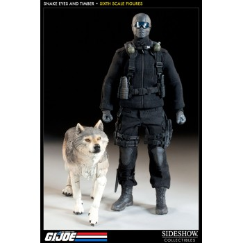 G.I. Joe Action Figure Snake Eyes and Timber 30 cm