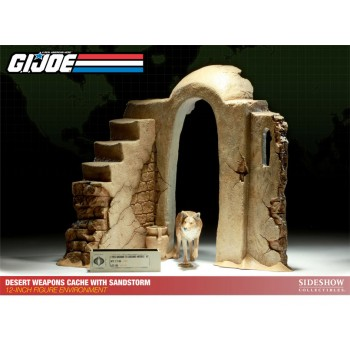 G.I. Joe Diorama Desert Weapons Cache with Sandstorm 38 cm