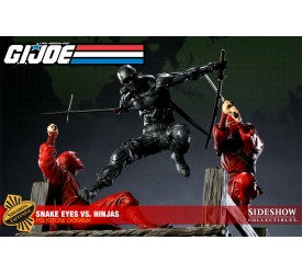 G.I. Joe Diorama Snake Eyes vs. Red Ninjas Sideshow Exclusive