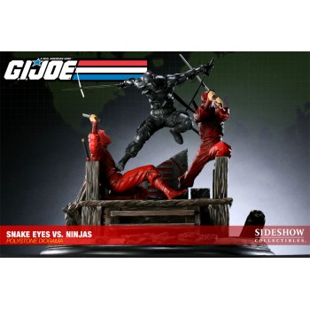 G.I. Joe Diorama Snake Eyes vs. Red Ninjas Sideshow