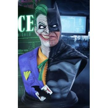 DC Comics Batman and Joker Fusion Half Bust 43 cm