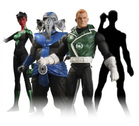 Green Lantern Series 5 Action Figure Set 17 cm (4)